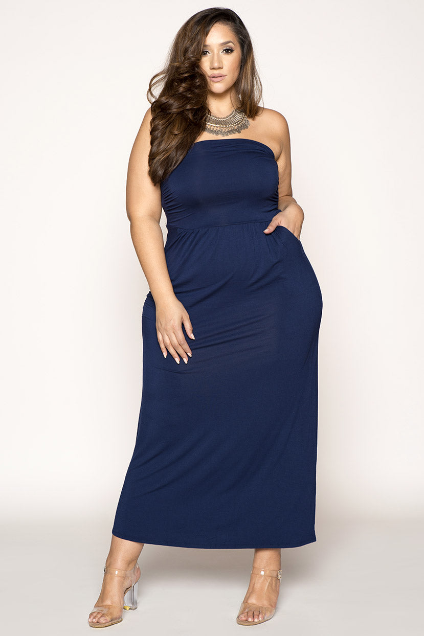 Strapless Tube Top Maxi Dress