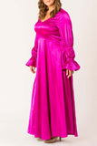 Sweet Satin Symphony Maxi Dress