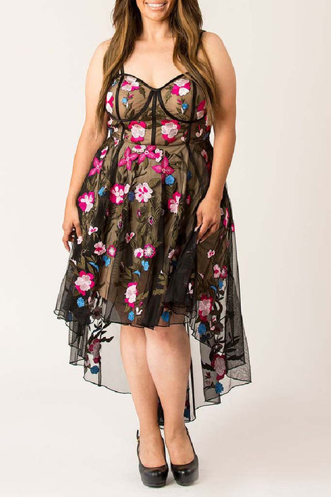 Waltz of spring high low dress