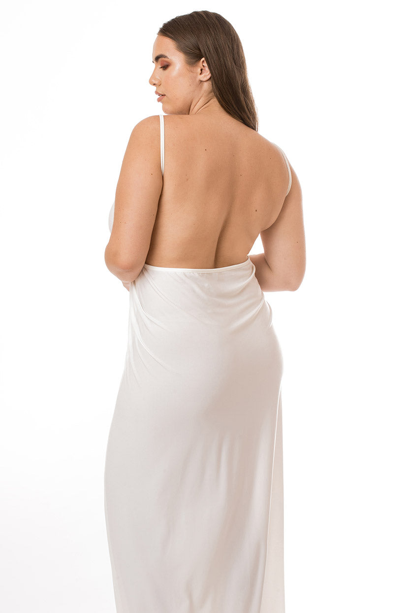 White Maxi Cover Up