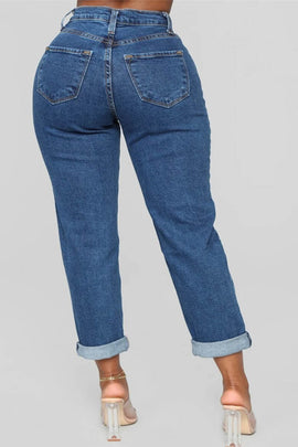 Straight Fit  Boyfriend Jeans