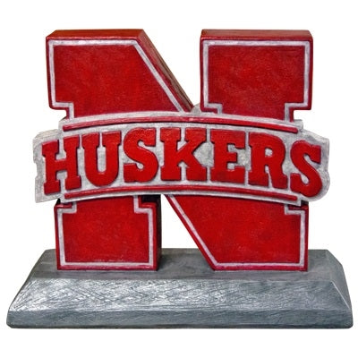 ION College University of Nebraska Huskers Logo Stone Mascot