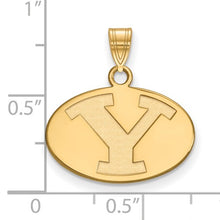 Brigham Young University 14k Sterling Silver Gold Plated Small Pendant