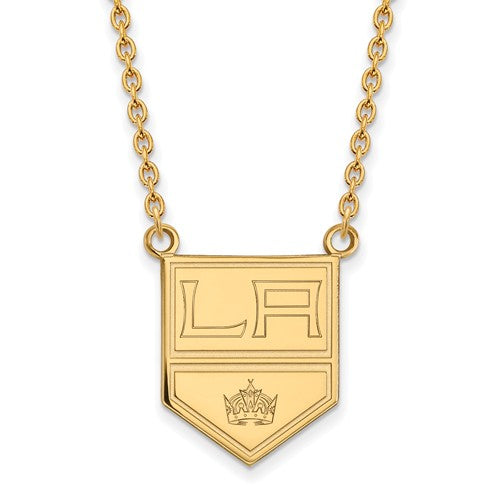 Los Angeles Kings 14k Yellow Gold Large Pendant Necklace