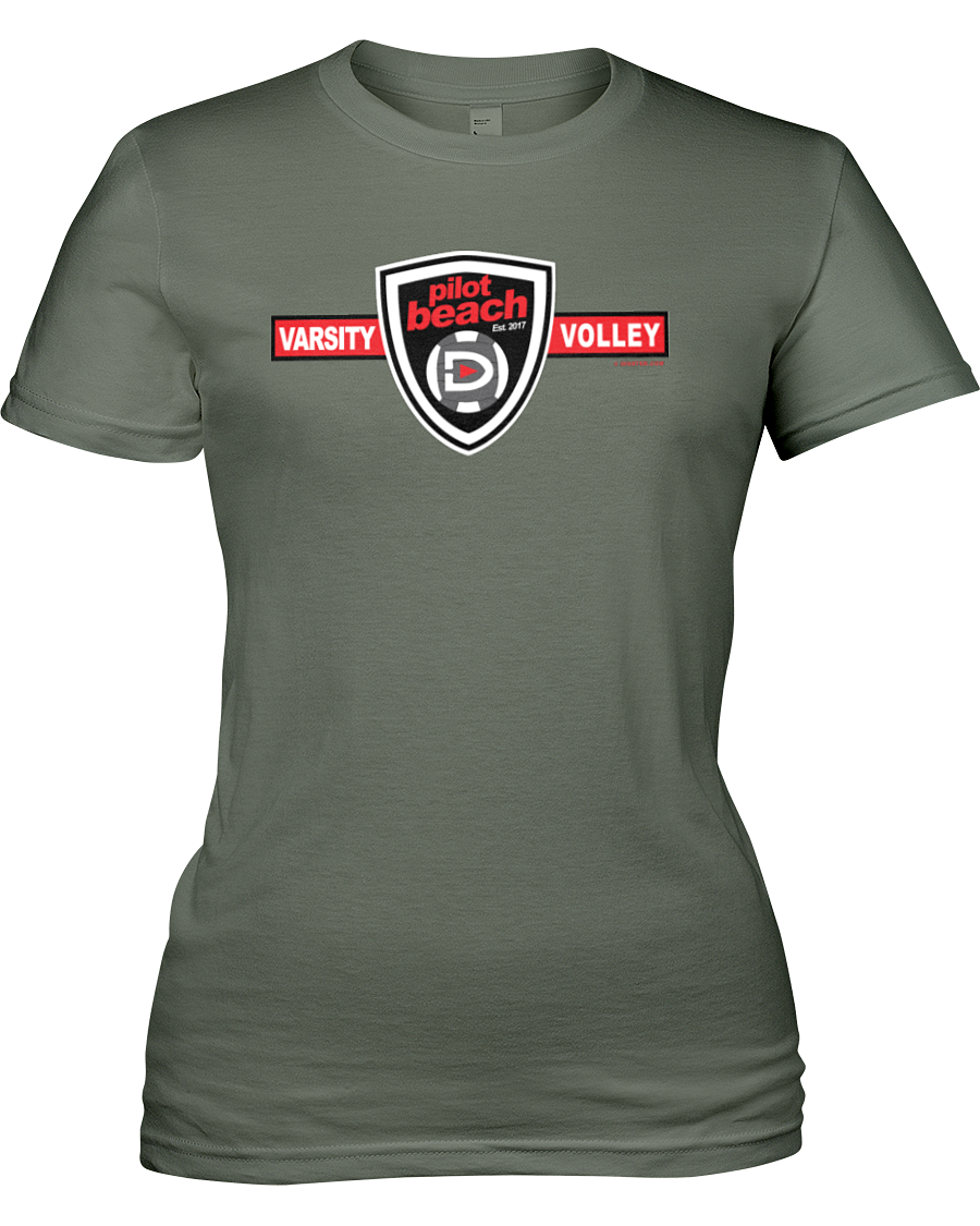 Banning Pilot Beach Volleyball Shield of Style Women's Cut Tee