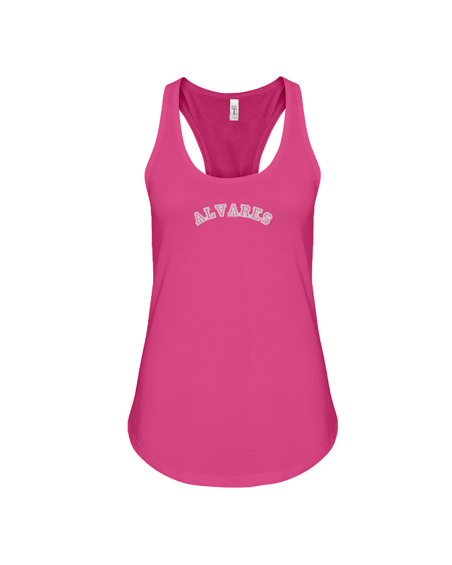 Family Famous Alvares Carch Ladies Racerback Tank