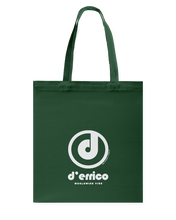D'Errico Authentic Circle Vibe Canvas Shopping Tote