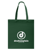 DeChamplain Authentic Circle Vibe Canvas Shopping Tote