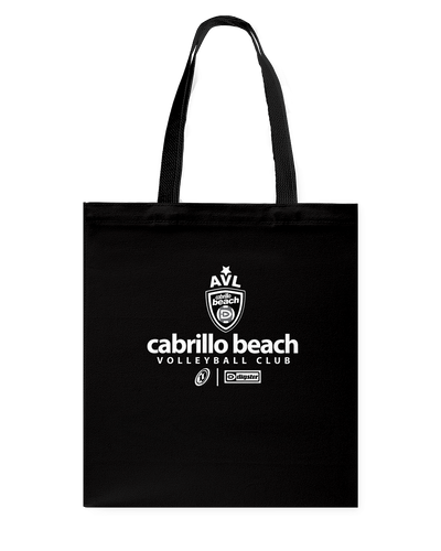 AVL Cabrillo Beach 03 Wht Canvas Shopping Tote
