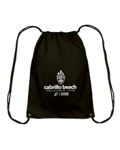 AVL Cabrillo Beach 03 Wht Cotton Drawstring Backpack