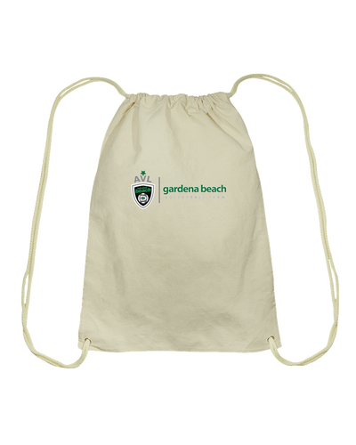 Gardena Beach AVL High School Cotton Drawstring Backpack