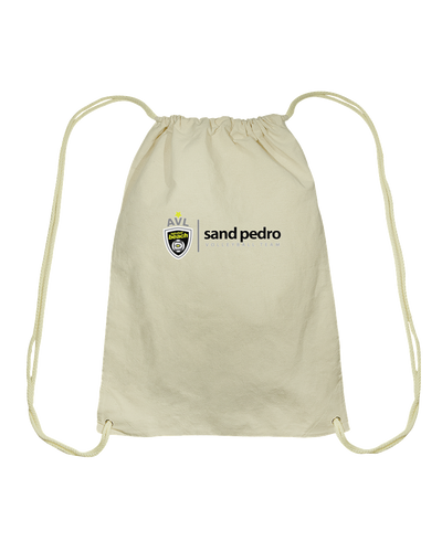 Sand Pedro AVL High School Cotton Drawstring Backpack