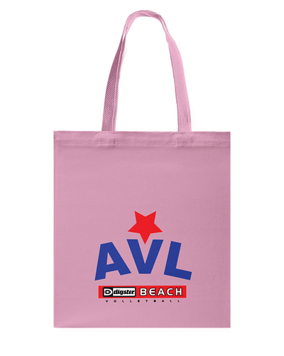 AVL Digster Beach Volleyball Logo Canvas Shopping Tote