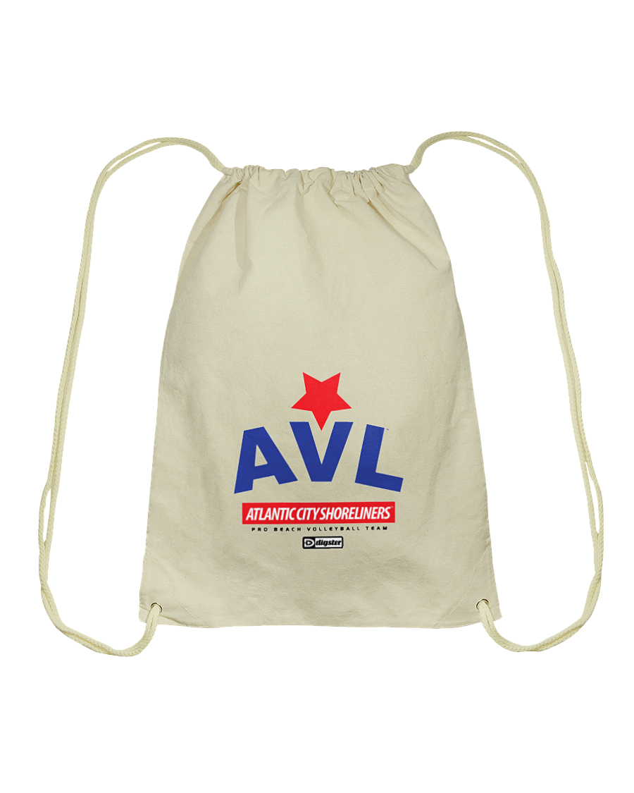 AVL Digster Atlantic City Shoreliners Cotton Drawstring Backpack