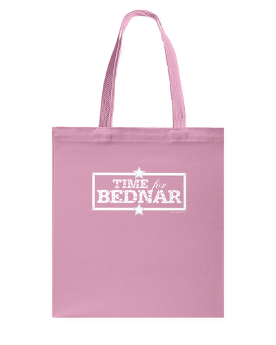 Time For Bednar Canvas Shopping Tote