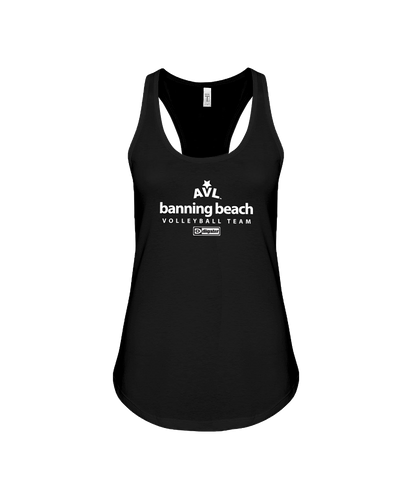 AVL Banning Beach Volleyball Team Issue Flowy Racerback Tank