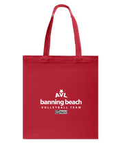 AVL Banning Beach Volleyball Team Issue Canvas Shopping Tote