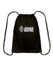 AVL AAAA Rated Wht Cotton Drawstring Backpack