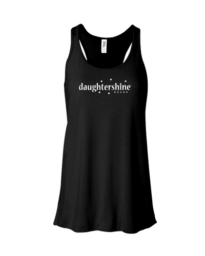 Daughtershine Brand Logo White Contoured Tank