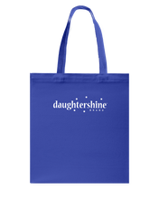 Daughtershine Brand Logo White Canvas Shopping Tote