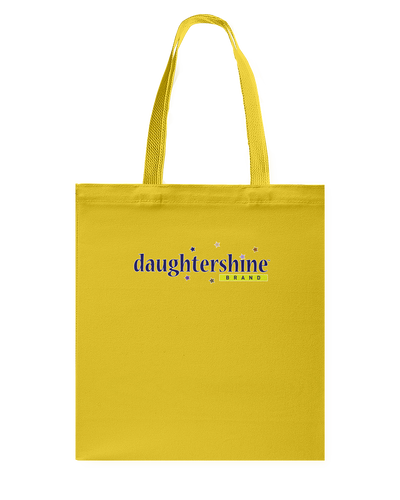 Daughtershine Brand Logo Canvas Shopping Tote