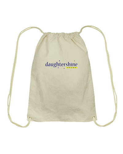 Daughtershine Brand Logo Cotton Drawstring Backpack