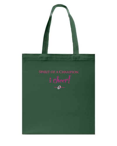 I CHEER Spirit Of A Champion Canvas Shopping Tote