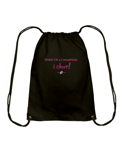 I CHEER Spirit Of A Champion Cotton Drawstring Backpack
