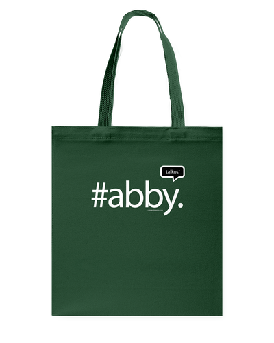 Family Famous Abby Talkos Canvas Shopping Tote