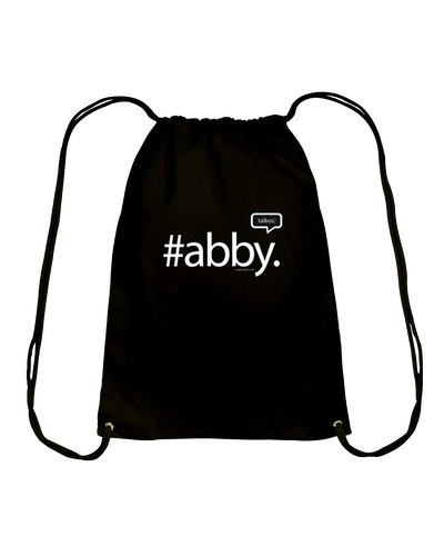 Family Famous Abby Talkos Cotton Drawstring Backpack