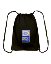 Cabrillo Beach Volleyball Club Court Logo Cotton Drawstring Backpack
