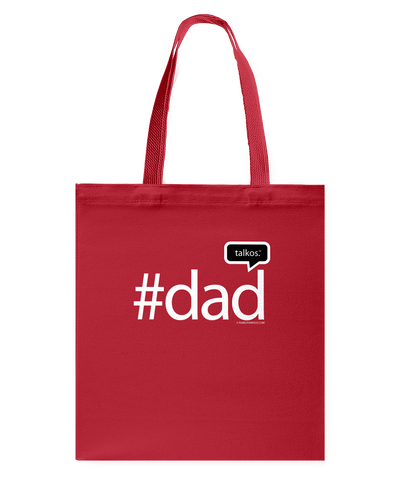 Family Famous Dad Talkos Canvas Shopping Tote