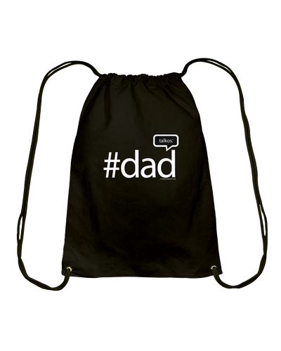Family Famous Dad Talkos Cotton Drawstring Backpack