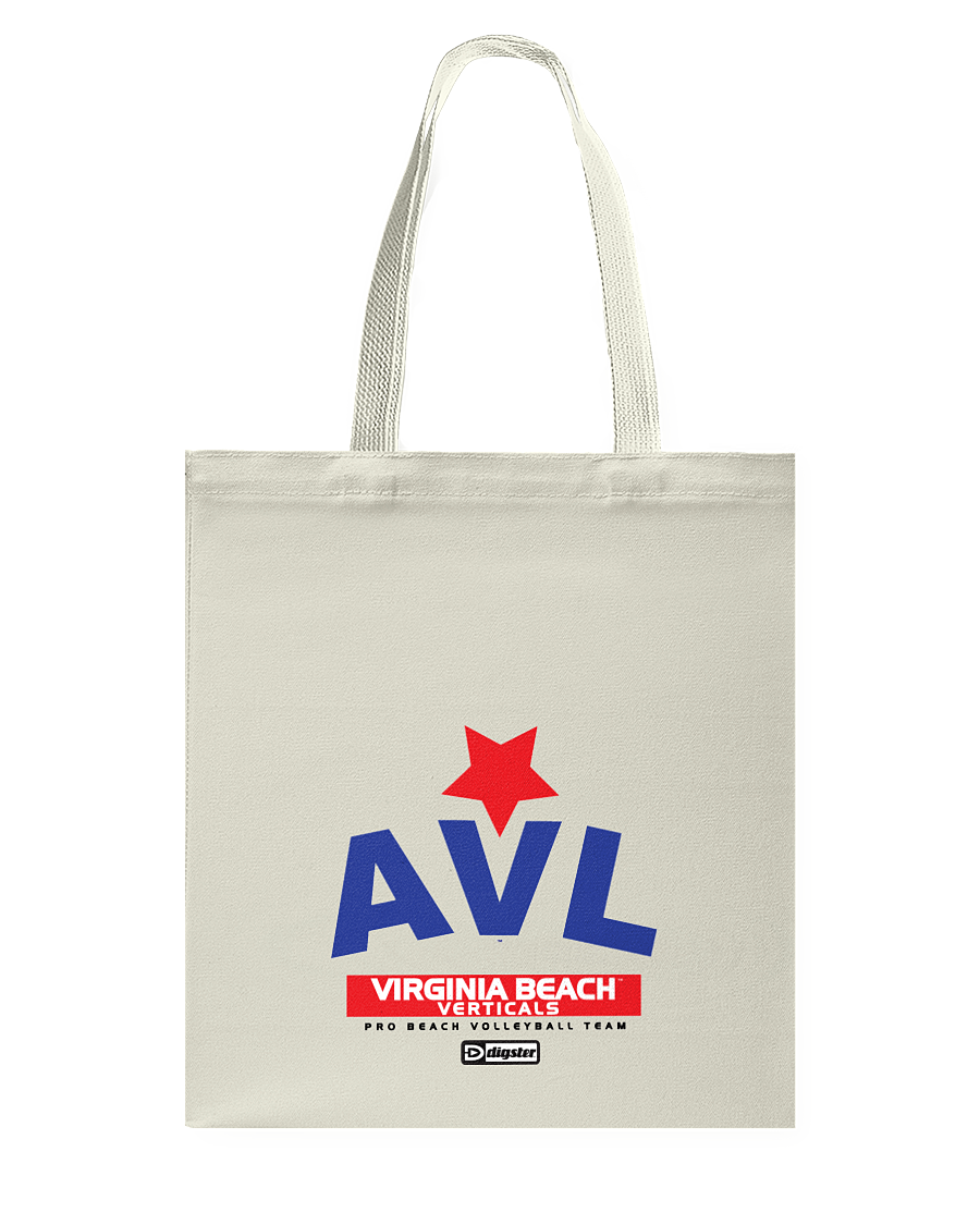 AVL Digster Virginia Beach Verticals Canvas Shopping Tote