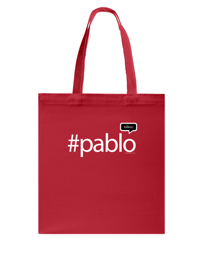Family Famous Pablo Talkos Canvas Shopping Tote