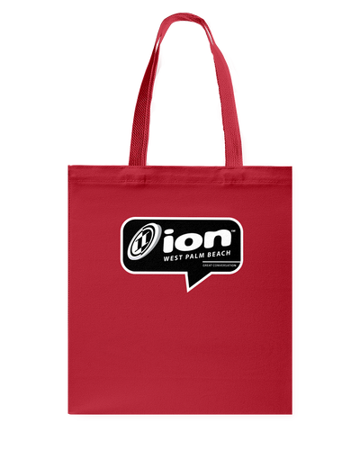 ION West Palm Beach Conversation Canvas Shopping Tote