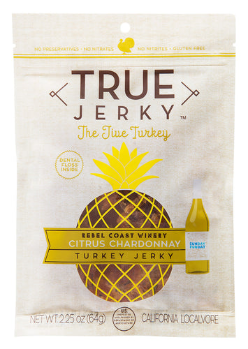 ION Nutrition - True Jerky Brand | Citrus Chardonnay Turkey Jerky