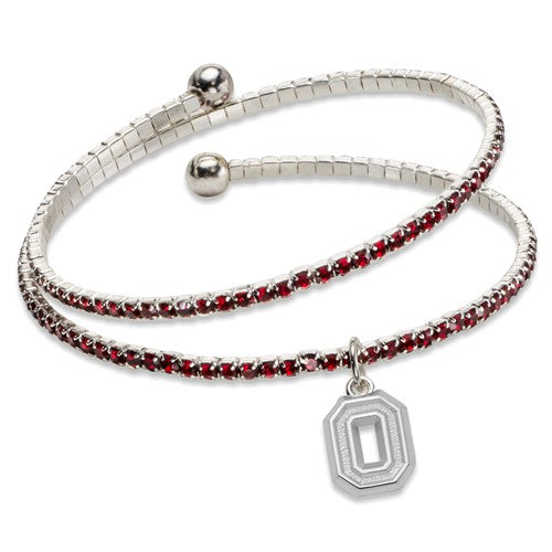 Ohio State University Amped Logo Crystal Bracelet