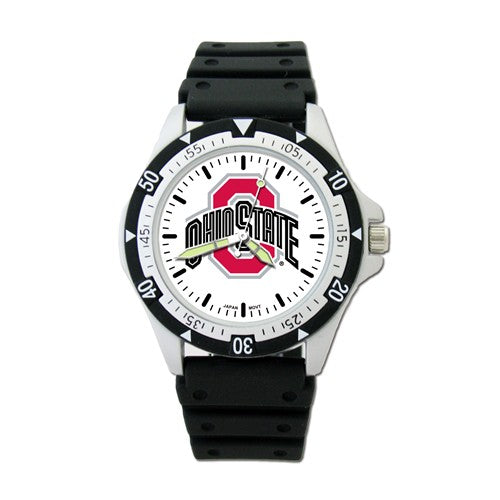 Ohio State University Option Sport Watch With Pu Rubber Strap