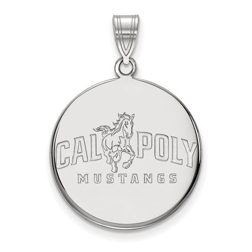 California Polytechnic State University Sterling Silver Large Disc Pendant