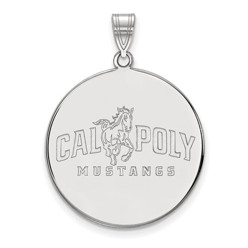 California Polytechnic State University Sterling Silver Extra Large Disc Pendant