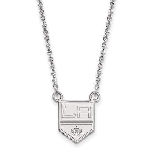 Los Angeles Kings 14k White Gold Small Pendant Necklace