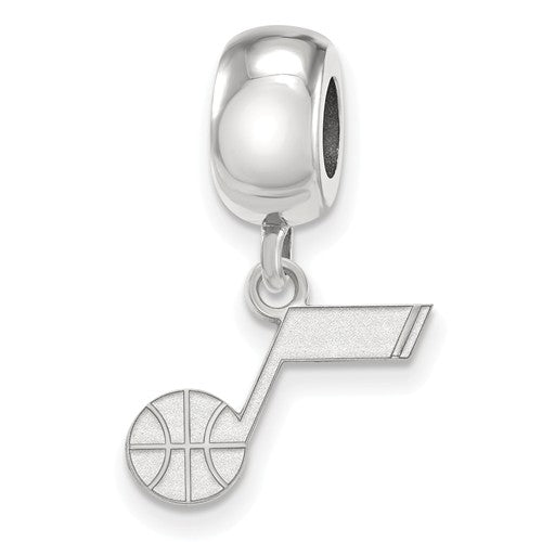 Utah Jazz Sterling Silver Extra Small Charm Dangle Bead