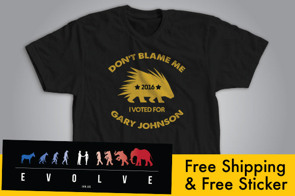 Don't Blame Me... I Voted for Gary Johnson! T-Shirt