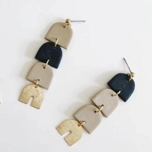 Whiskey and Wine Jewelry: Chamomile and Black Cricket Earrings