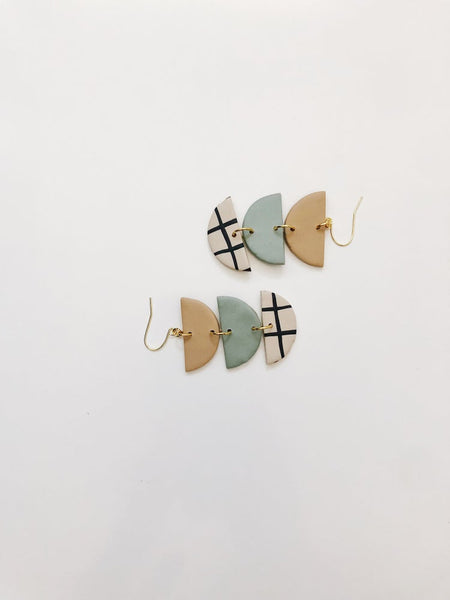 Whiskey and Wine Jewelry: Bea Grid Earrings