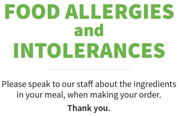 message garden food prep for information on allergies