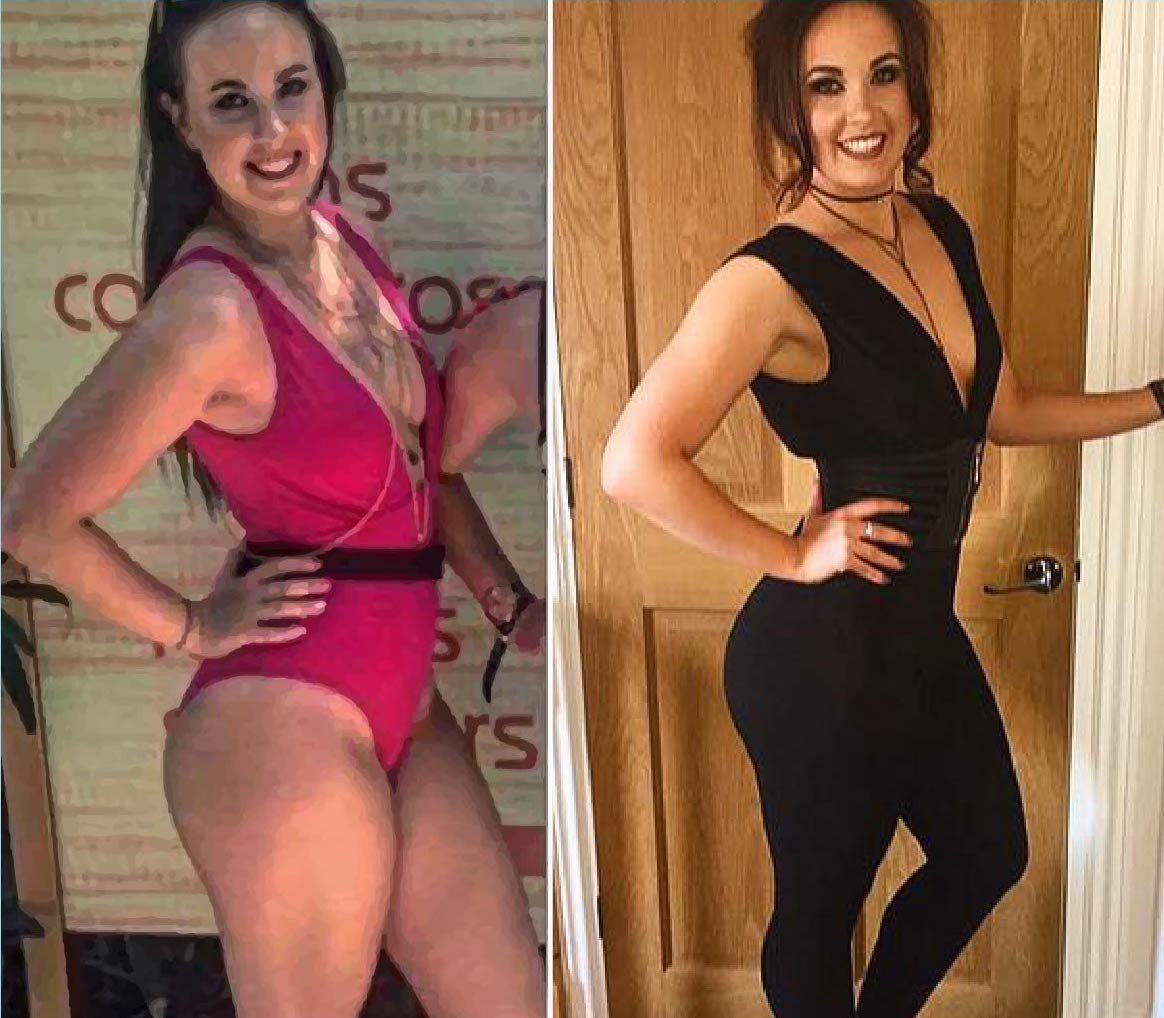 healthy diet plan for women works as shown by Emma's body transformation photos