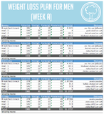 healthy meal prep plan delivered by garden food prep, professional meal prep service. weight loss plan for men week b