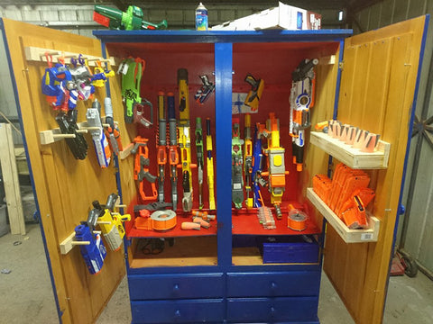 DIY Custom Nerf Storage Solution: Upcycled Furniture